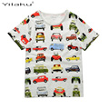 1-6Y Children's T shirt Cotton Boys t-shirt Baby Clothing Little Boy Summer Shirt Tees Cartoon Dinosaur T-shirts for Boy CG061