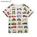 T-shirt da Roupa Do Bebê das Crianças T Meninos camisa de Algodão 1-6A Menino Verão Camisa T-shirt do Dinossauro Dos Desenhos Animados Camisetas para o Menino CG061