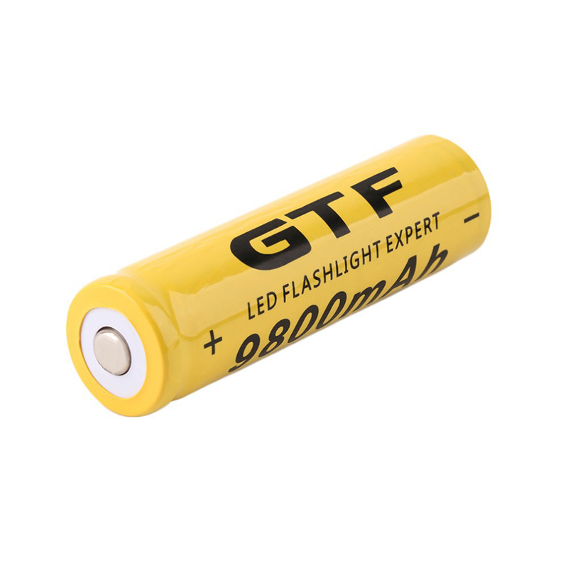 GTF 3.7V 9800mah 18650 Battery Li-ion Rechargeable Battery LED Flashlight Torch Emergency Lighting Portable Devices Tools