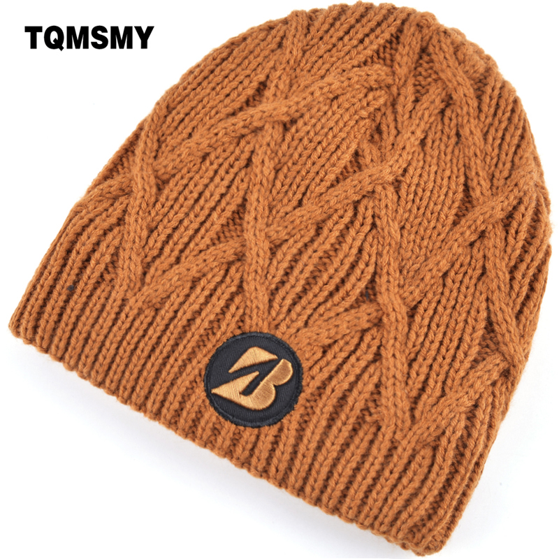 TQMSMY Women's Winter Hats Knitted Embroidery   Skullies     Beanie   Men Mesh knit texture Solid Ski Gorros Casquette for Women TMD20