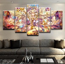 5 Pieces Canvas Wall Art For Living Room Anime angel Artwork Modern Home Decor Picture HD Print Painting Photo Decorative