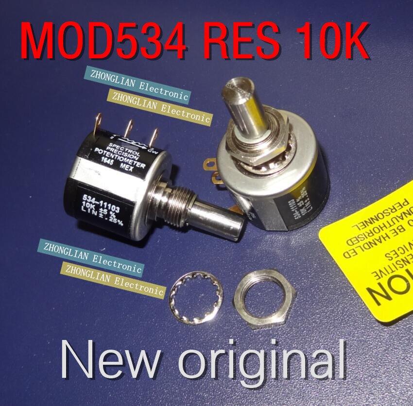 Potentiomètre de bobinage de fil multi tour | Modèle original britannique, 534 RES 10K Spectrol, potentiomètre de bobinage de fil, 4 pièces/lot, livraison gratuite