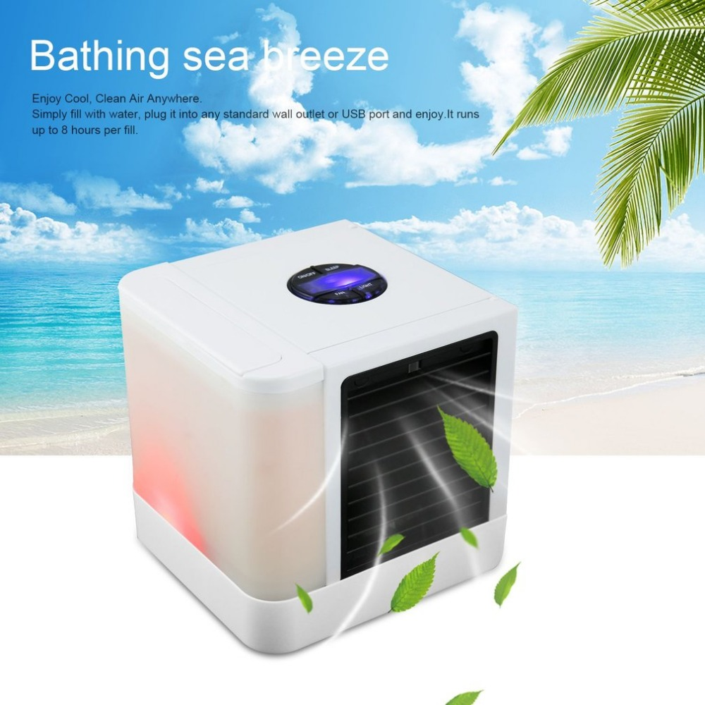 Usb Mini Portable Air Conditioner Humidifier Purifier 7 Colors Light Fan Control Harbor Breeze 600 Watt Black 3 Speed Rotary Ceiling Multifunctional Table Desk Small Home Office Bladeless Quiet Personal Moisturizing Coolerusd 2496 3888 Piece