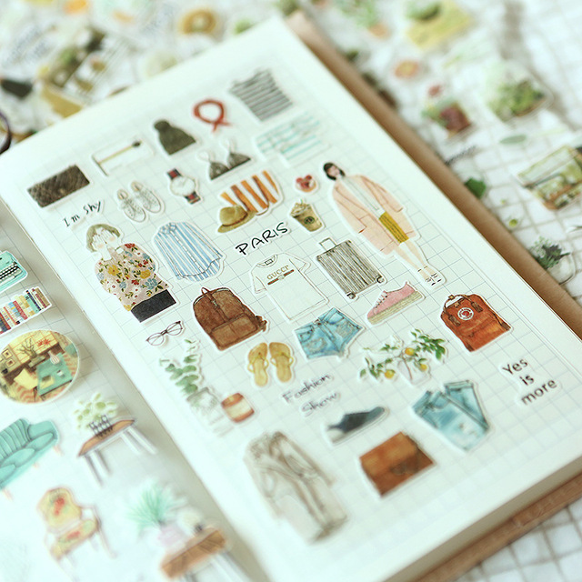 Kawaii Home Stuff Corner Kitchen Gadget Succulent Plant Stationery Sticker Cute Sbook Al Journal Diy Label For Kids