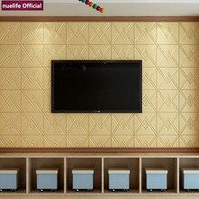 3D geometric pattern soft package wallpaper bedroom living room kids waterproof anti-collision office foam wall stickers