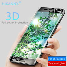 Фотография 3D Touch Screen Protector Tempered glass for samsung galaxy s7 edge s6 edge 9H Full Cover Protection For Samsung S8 Glass film