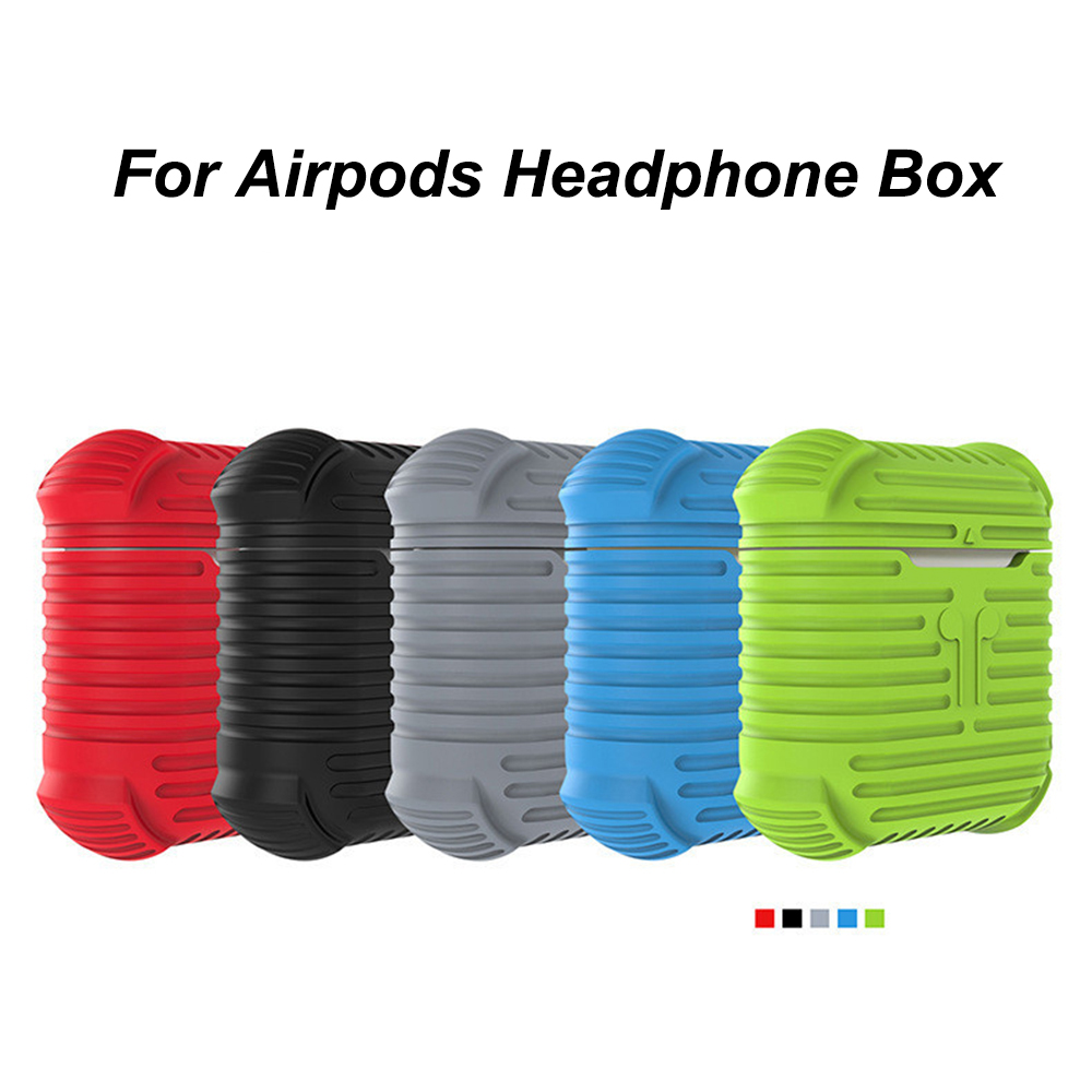 Silicone Case Bluetooth Wireless Headphone Soft Case For AirPods Protective Cover Skin Earphone Accessories for Apple Airpods