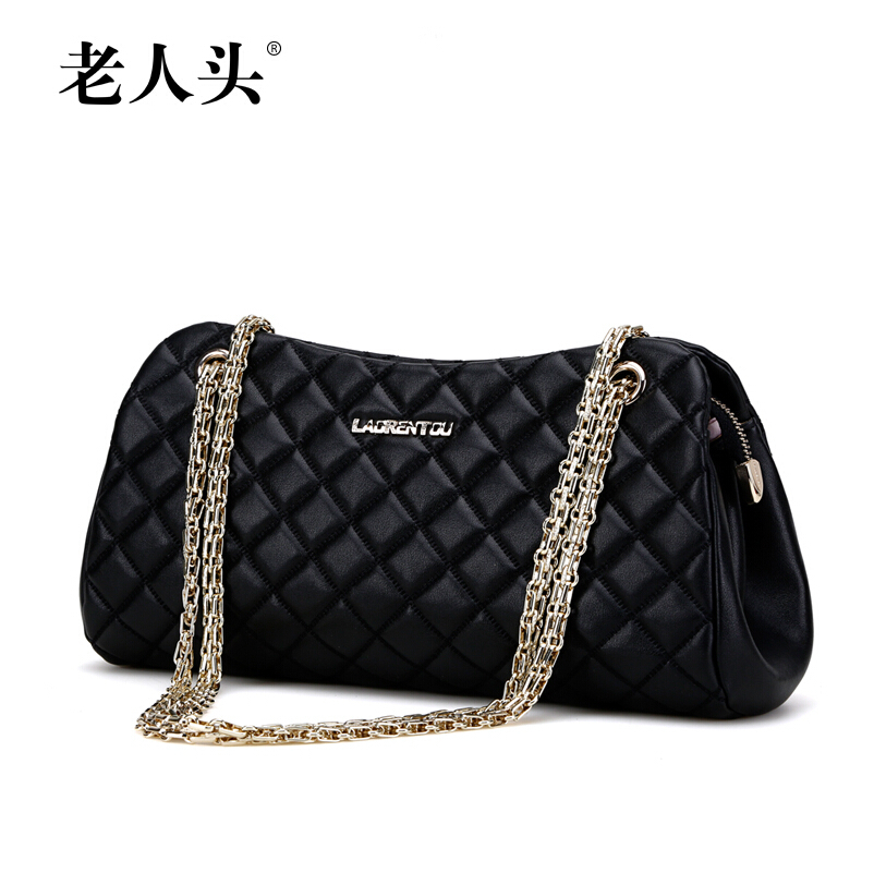 LAORENTOU  Famous brands top quality dermis women pack 2015 summer new fashion classic shoulder Messenger Bag Lingge chain bag famous brands top quality dermis women bag fashion leisure travel women shoulder bag leather crocodile pattern backpack