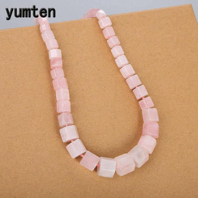 Yumten kwarc różowy duży naszyjnik oświadczenie kobiety Kettingen kryształ naturalny kamień Power mężczyźni prezent akcesoria biżuteryjne hurtownie