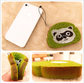 New squishy Licensed package 8cm green tea animal toast squishies Wholesale cell phone Strap Charm free shipping hot 20pcs/lot