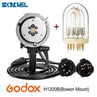 Godox ad h1200b Портативный головка вспышки Bowens головка вспышки с 1200 Вт bare шарик вспышки трубки