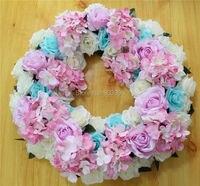 40 CM darmowa wysyłka! Ślubu Panna Młoda Kwiat Róży kwiat Wieniec Party girlandy Kwiatów kwiat korona ołowiu drogowego
