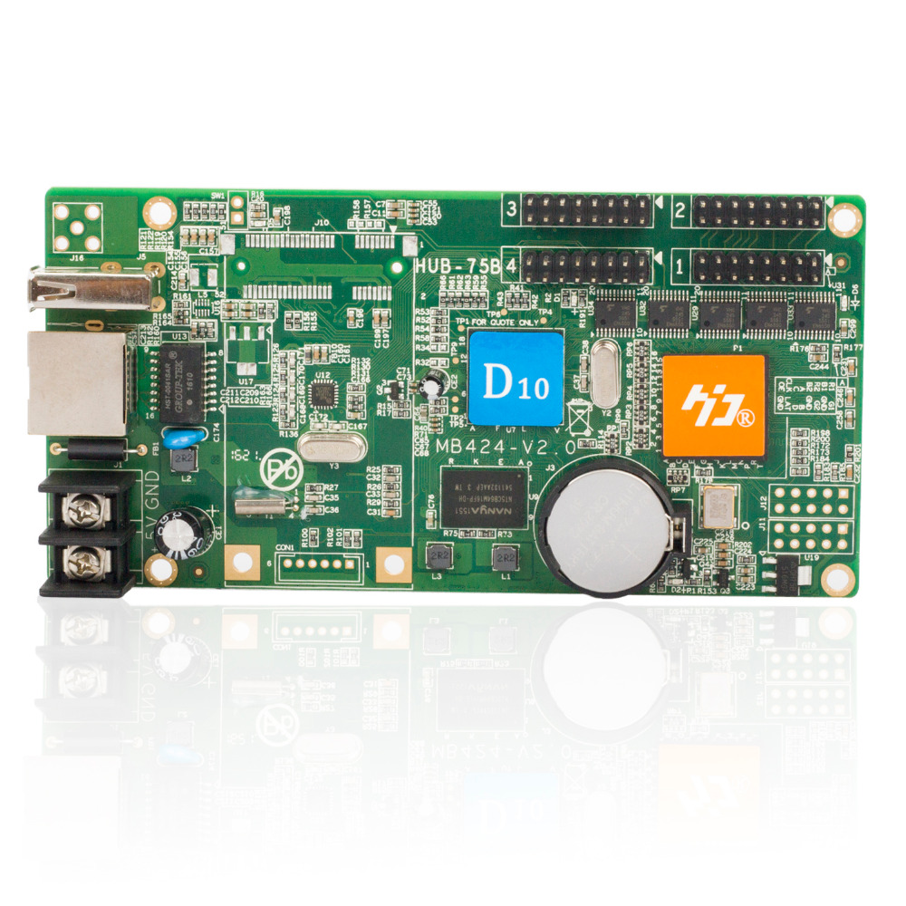 Shenzhen HD D10 led module control card 4 HUB75 asynchronous data interface lintel RGB full color