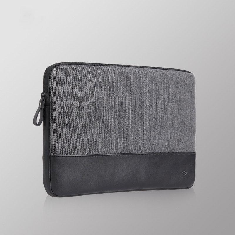 цена на 2017 Laptop Sleeve Bag Woolen+Genuine Leather Notebook Computer Handbag Case Cover for 13.5 Inch CHUWI Hi13 Tablet PC bag