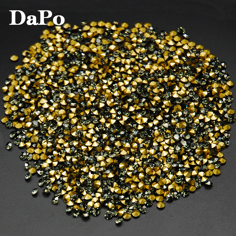 SS4 SS30 Black Diamond Color Round Point Back Glass Rhinestones Chatons  Stones Strass-in Rhinestones from Home   Garden on Aliexpress.com  c6c6b330ba05