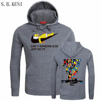 New Brand Sweatshirt Men Hoodies Sweatshirts Fashion Solid Fleece Hoodie Mens Pullover Men S Tracksuits Moleton
