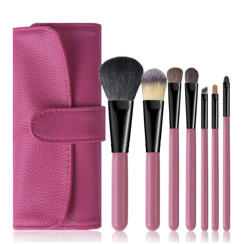 Rose Red makeup brushes pincel maquiagem cosmetics beauty make up tool kit powder eyes brushes (1)