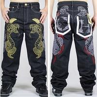 Hip Hop Jeans For Men 2016new Fashion Black Baggy Jeans Denim Pants Free Shipping Jeans Men Robin Jeans Dsq