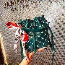 2019 high quality rivet crossbody bag female Messenger bag handbag luxury brand ladies bucket bag fashion tassel shoulder bag все цены
