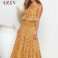 RZIV Summer women's suit casual dot print bow decoration set