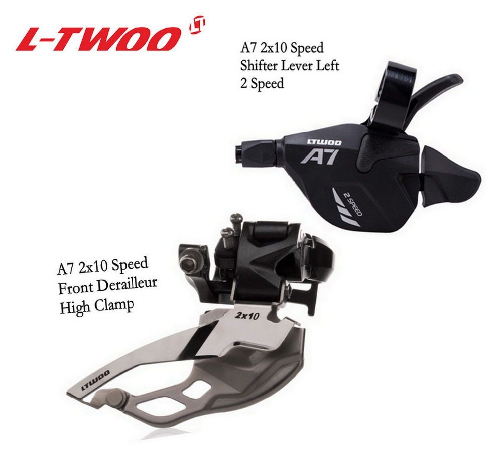 LTWOO A7 <font><b>2x10</b></font> 20 Speed Derailleur Groupset 2 Kits <font><b>2x10</b></font> Front Derailleur and Trigger Shifter Lever Left 2 Speed Repair Parts image