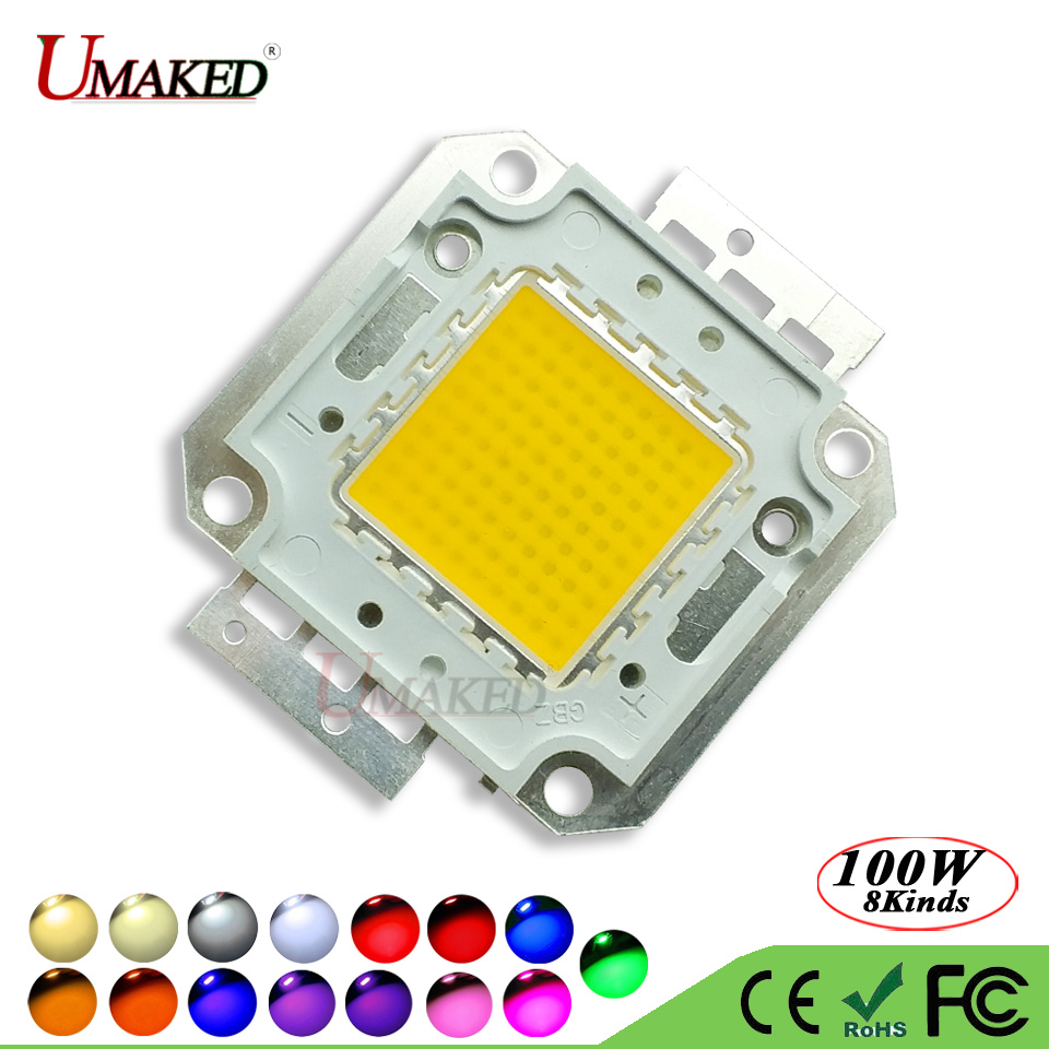 UMAKED High Power COB Diode Full 100W LED Chip 30Mil Genesis Photonics Light SMD chips Warm/White/Cool For led Bulb Spotlights