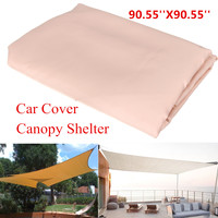 Top Sun Shade Sail Shelter Waterproof Polyester Sun Block Cloth Outdoor Garden Car Cover Awning Canopy Patio Supplies 2.3x2.3m