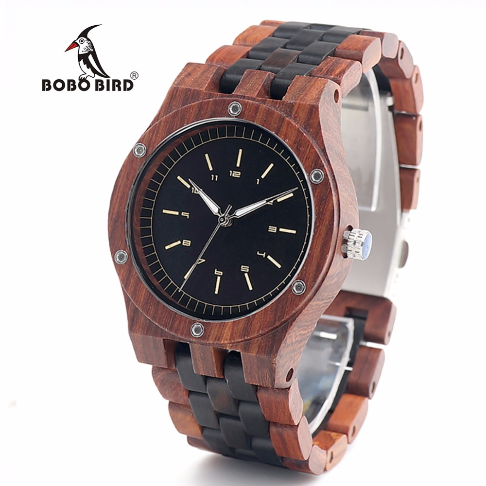 BOBO BIRD V-N18 Men Designed Luxury Watches All Wood  Dressed Quartz Wrist Watch in Gift  Box relogio masculino 2017 bobo bird new luxury wooden watches men and women leather quartz wood wrist watch relogio masculino timepiece best gifts c p30