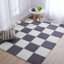 Living Room Rug Children Carpet Foam Shu Velveteen Mat Puzzle Baby Play Mat Interlock Exercise Floor Mat for Baby Bedroom Rug цены
