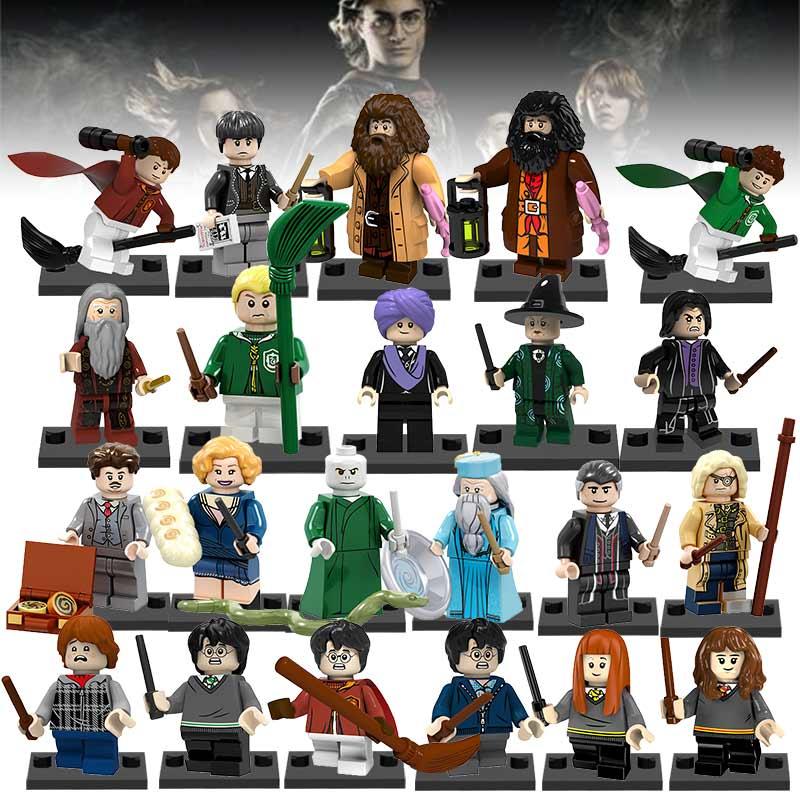 Bloques de construcción de lEGOED de Harry Potter de venta único Ginny Ron Weasley Hermione Granger Lord Voldemort Ron Draco Malfoy juguetes figura