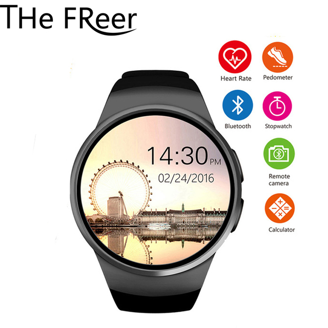 KW18 Bluetooth smart watch full screen Support SIM TF Card Smartwatch Heart Rate Monitor for Android apple huawei xiaomi Phone