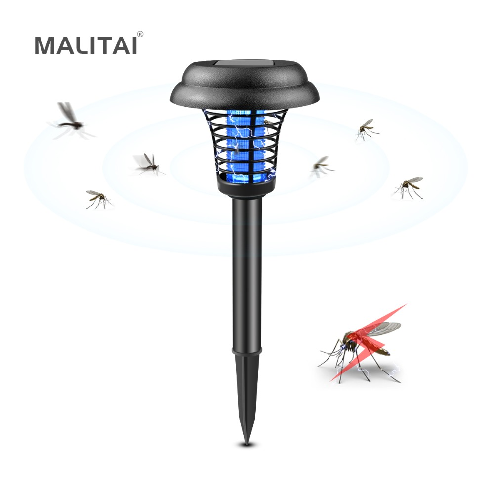 Mosquito Killer Solar LED lamp Fly Bug Insect UV Trap light Repellent Mosquito Zapper Pest Control For Outdoor Garden Lawn lamp mosquito killer lamp led trap pest insect