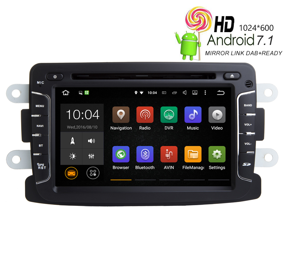HIRIOT 7'Android 7.1.1 Car DVD GPS Player For DACIA Sandero Duster Renault Captur Lada Xray 2 Logan 2G RAM 4G/WIFI Radio 16G MAP image