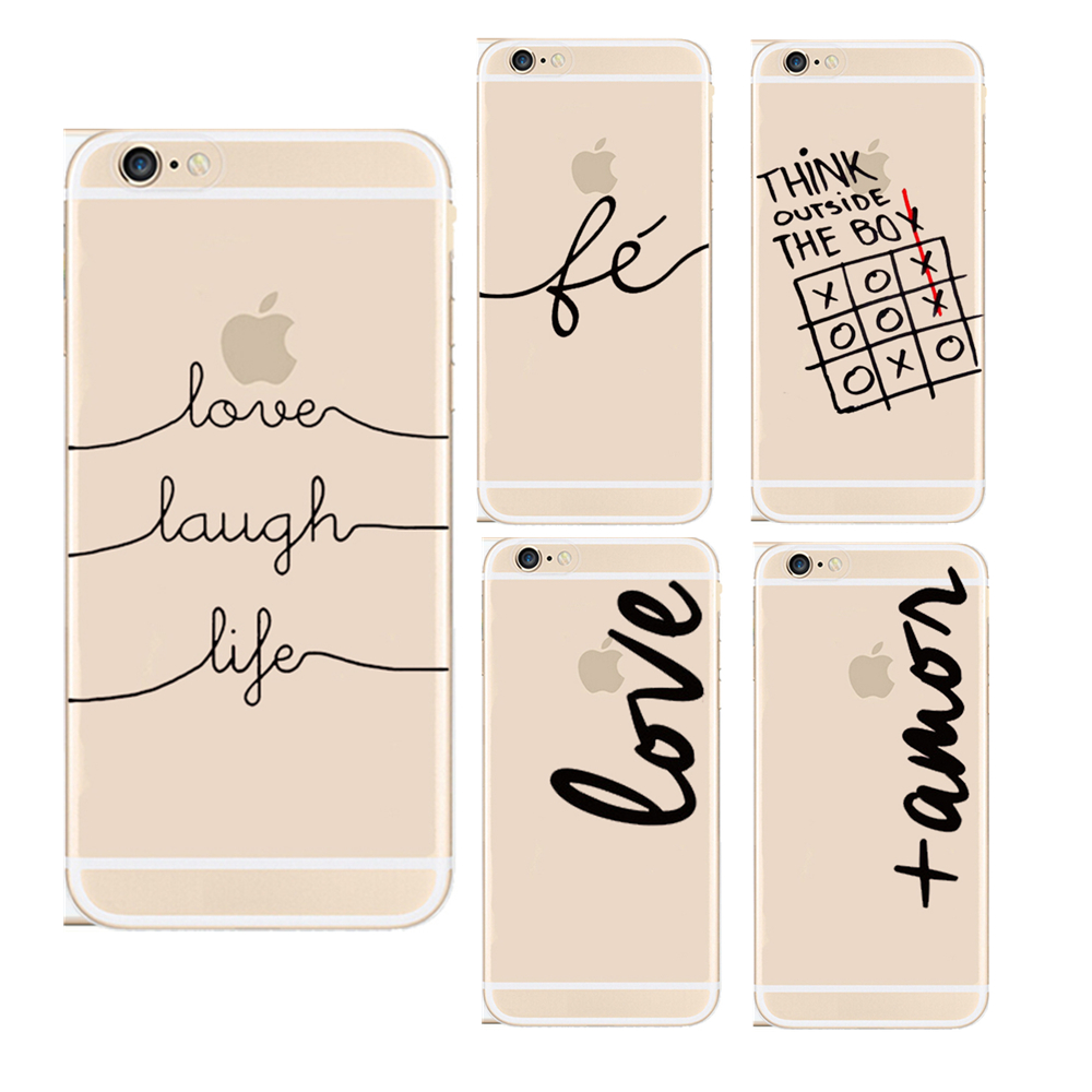 Funny Slim Transparent LOVE LAUGH LIFE Printing Phone Case ...
