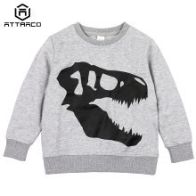 ATTRACO Kids Boys Girls Cotton Hoodies Sweatshirt Cartoon Print Pullover Long Sleeve Soft Skin-friendly цена