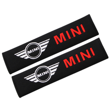2pcs Car styling cotton Safety belt for cars Emblem LOGO Shoulder Protection pad For BMW MINI 2011 2012 2013 2014 2015 2016