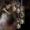 Романтический Высокое качество K9 Хрустальный цветок стекло 13/5/6 глав подвесной светильник led для гостиной столовой AC 80-265 V 1091