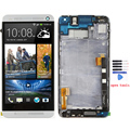 Original lcd for HTC one M7 lcd display and touch screen digitizer with frame + tools free shipping !!! silver color