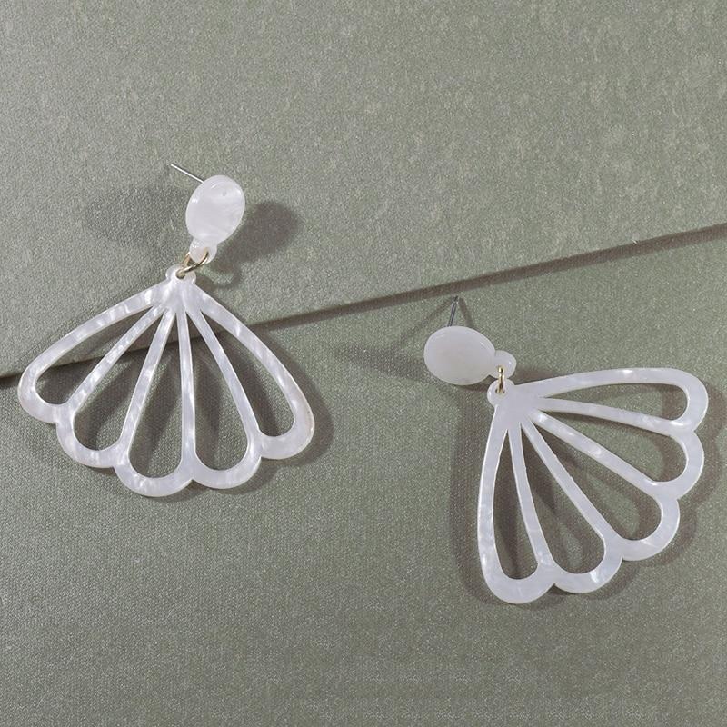 Lost Lady New Sector Acrylic Drop Earrings For Women Trendy Hollow Dangle Earrings For Women Statement Jewelry Acetate Brincos in Drop Earrings from Jewelry Accessories
