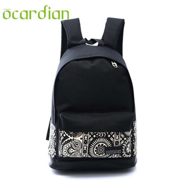 OCARDIAN New Fashion Backpack  Womens Men Casual Backpack Girl School Shoulder Bag Rucksack Travel Bags 4 Styles Mochila Jan 24 2016 womens men casual backpack girl school fashion shoulder bag rucksack travel bags 634 11