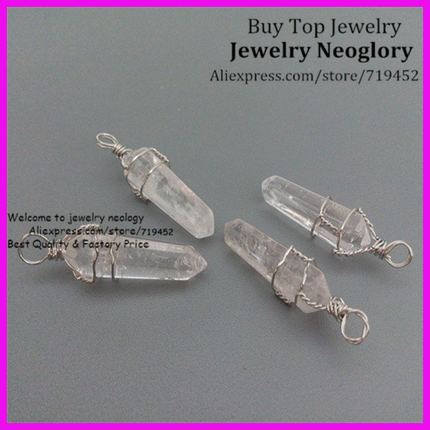 crystal Point Druzy Drusy Quartz Wire-wrapped Pendant A Plastic Case Is Compartmentalized For Safe Storage Necklaces & Pendants 10pcs Nature Rock Clear Quartz Silver Plated Wire Wrapped Point Pendant
