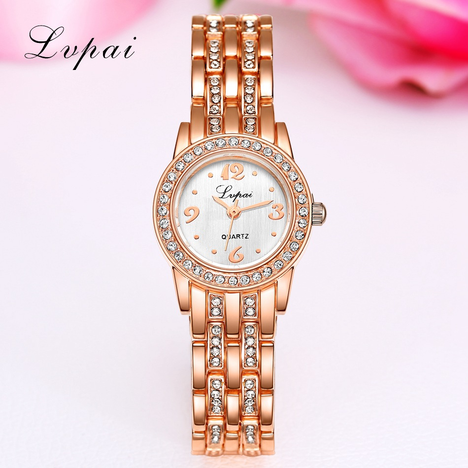 Lvpai Brand Cheap Stainless Steel Watch Rose Gold Bracelet ...