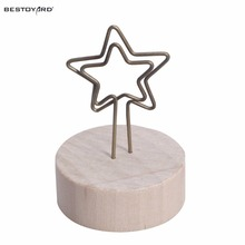 wooden base photo card note memo holder clip table marker holder clips easel table number place