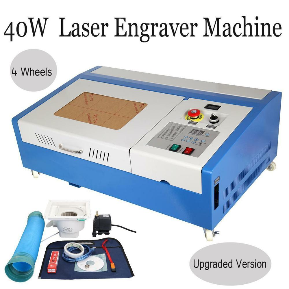 40W CO2 USB Laser Engraving Cutting Machine Engraver Cutter Software Included