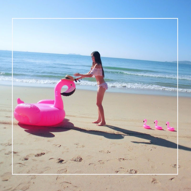 Giant Inflatable Flamingo Blow Up Pool Toy Float Swimming