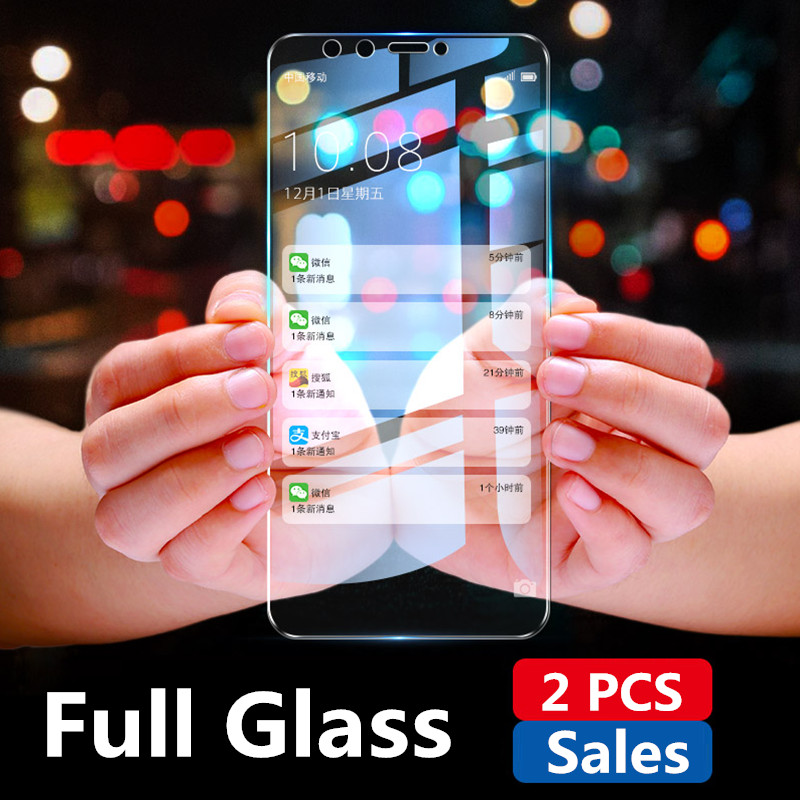 2PCS Full Screen Tempered Glass For Huawei Honor 9 Lite 7A 7C Pro RU 7X Screen Protector Honor 9 8 10 Lite 8X Protective Glass