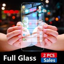 2PCS Full Screen Tempered Glass For Huawei Honor 9 Lite 7A 7C Pro RU 7X Screen P