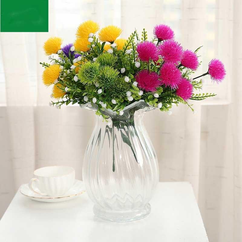 Красочный Милый Шелковый шар, цветок хризантемы искусственный Одуванчик 5 голов/Букет открытый цветок для украшения сада растения
