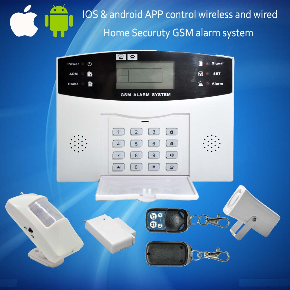 Wireless Wifi GSM Home Security Alarm System Touch Screen IOS Wireless