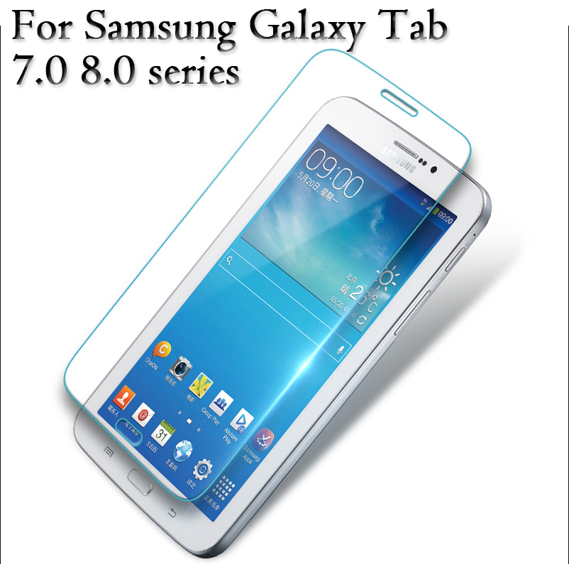 50pcs/lot Tempered Glass HD Screen Protector Film 9H 0.3mm For Samsung Galaxy Tab 2 3 4 S A E 8.4 7.0 8.0 A6 tablet glass Series